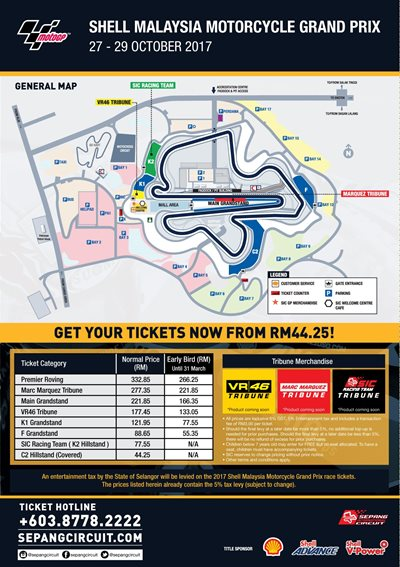 Sepang International Circuit - GRAB YOUR EARLY BIRD TICKETS FOR THE MOTOGP BEGINNING NOW!